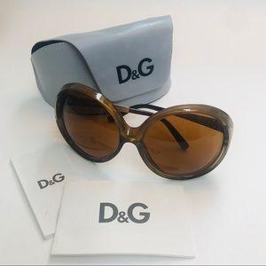 D & G Gold Retro Sunglasses
